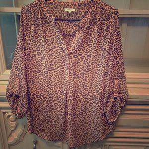 Blush Cheetah Blouse
